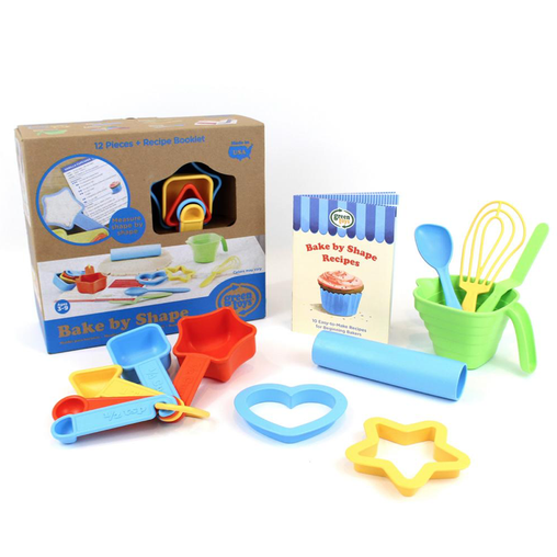 Green Toys Bake by Shape Set Packaging & Contents