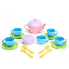 Green Toys Tea Set 15 Piece Recycled Plastic Pieces
