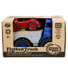 Green Toys Flatbed with Red Race Car Packaging