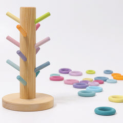 Grimm's Sorting Helper Building Rings Pastel with rings