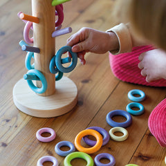 Grimm's Sorting Helper Building Rings Pastel Floor