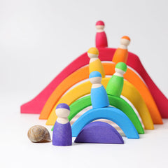 Grimm's Four Elements Building Set & Puzzle Rainbow