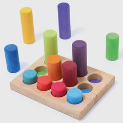 Grimm's Stacking Game Small Rainbow Rollers 2