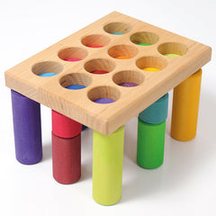 Grimm's Stacking Game Small Rainbow Rollers Board