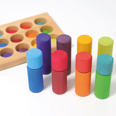 Grimm's Stacking Game Small Rainbow Rollers Pieces