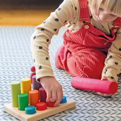 Grimm's Stacking Game Small Rainbow Rollers Girl
