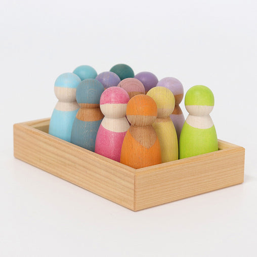 Grimm's Pastel Wooden Friends 12 Pieces