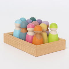 Grimm's Pastel Wooden Friends side