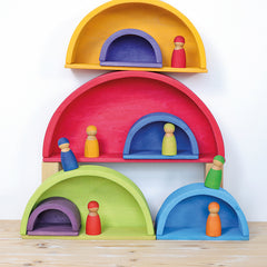 Grimm's Rainbow Wooden Building Boards house