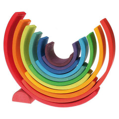 Grimm's Large Wooden Rainbow Stacker 10670 Eco Wooden Toy Ecotoy