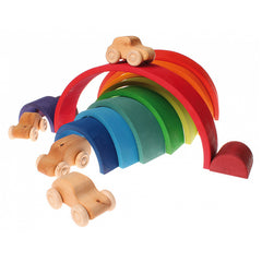 Grimm's Large Wooden Rainbow Stacker 10670 Eco Wooden Toy Ecotoy display
