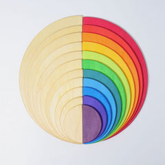 Grimm's Semi Circle Large Wooden Rainbow Natural