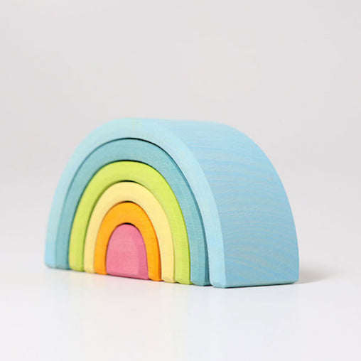 Grimm's Pastel Rainbow Elements Stacker Small