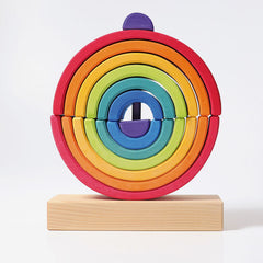 Grimm's Rainbow Elements Stacker Double Circle