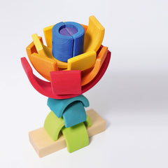 Grimm's Rainbow Elements Stacker Double Flower