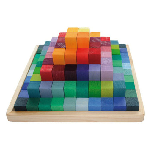 Grimm's Wooden Construction Set Pyramid Blocks Small
