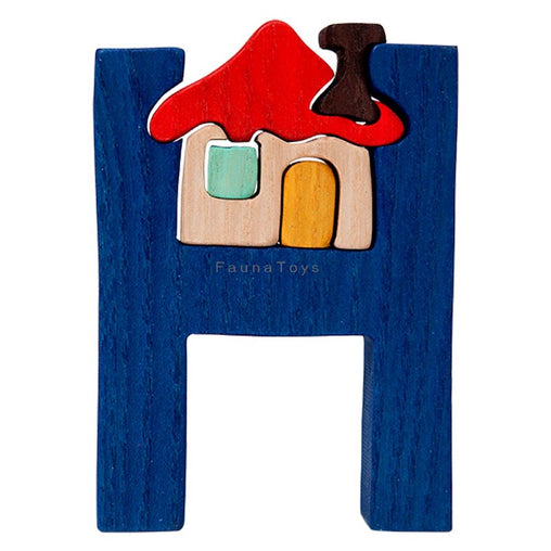 Fauna H for House Letter Puzzle