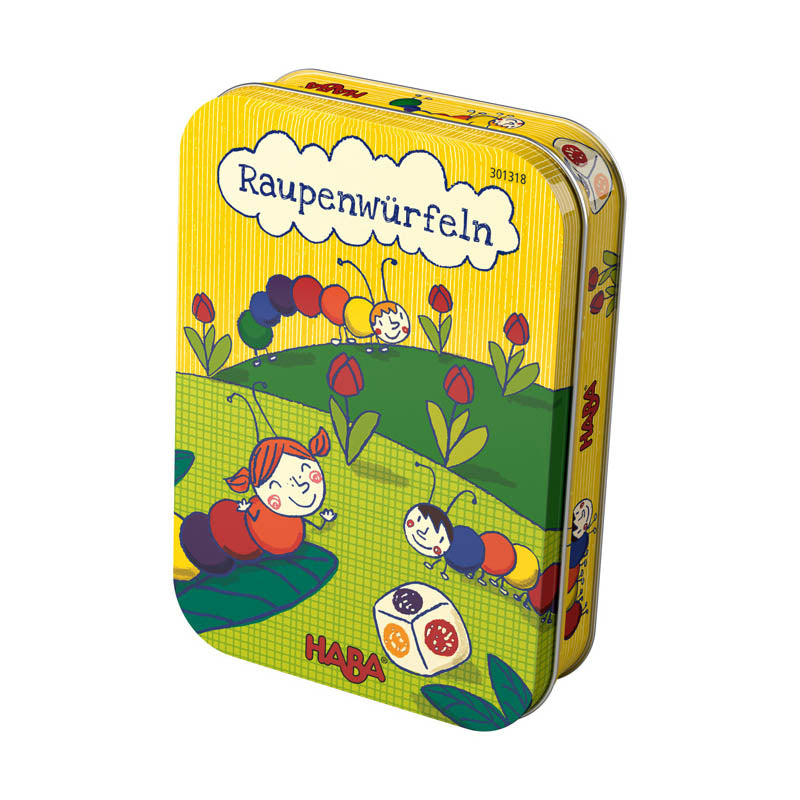 Haba Caterpillar Dice Tin Game