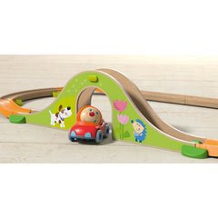 Haba My First Ball Track Bridge Rally Track Green