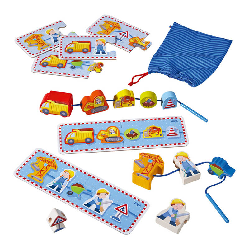 Haba Building Site Threading Game