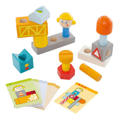 Haba Wooden Pegging Game Construction Site Pieces