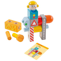 Haba Wooden Pegging Game Construction Site Pieces 2
