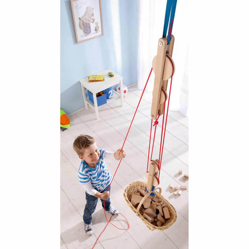 Haba Terra Kids Block and Tackle Pulley System