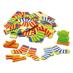 Haba Lucky Sock Dip Card Game Travel Size Socks