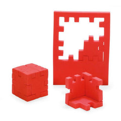 Happy Cube 2 & 3D Foam Puzzle Red Pieces