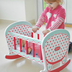 Indigo Jamm Hearts Rocking Cot With Girl