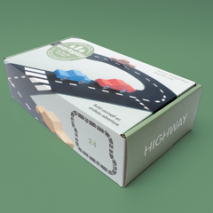 Way To Play Highway 24 Piece Rubber Road Set Packaging