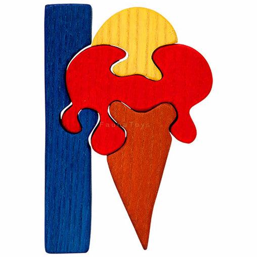 Fauna I for Ice-Cream Letter Puzzle