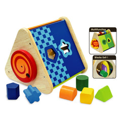 I'm Toy Triangle Wooden Activity Baby Toy Blue
