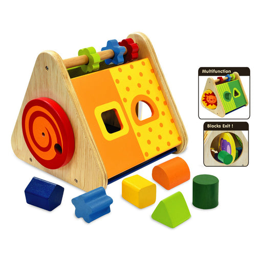 I'm Toy Triangle Wooden Activity Baby Toy