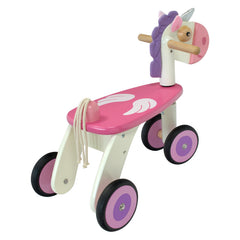 I'm Toy Unicorn Ride On Back View