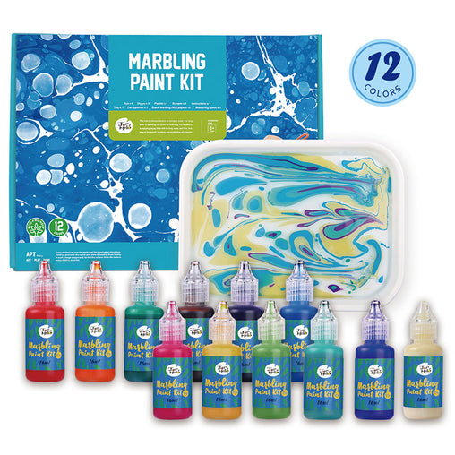 Jar Melo Marbling Paint Kit Contents