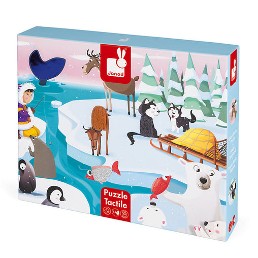 Janod Tactile Sensory Puzzle Ice 20 Pieces Packaging
