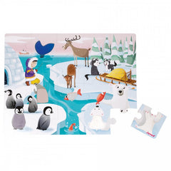 Janod Tactile Sensory Puzzle Ice 20 Pieces