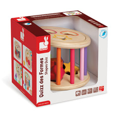 Janod Wooden Rolling Shape Sorter Packaging