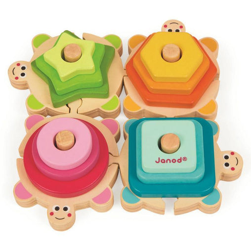 Janod Wooden Stacking Puzzle Turtle