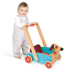 Janod Crazy Dog Walking Cart Baby Pushing