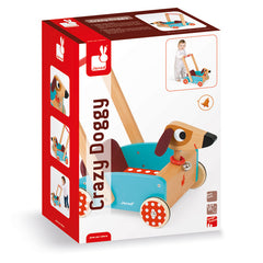Janod Crazy Dog Walking Cart Packaging