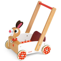 Janod Wooden Rabbit Walking Cart