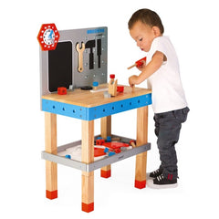 Janod Brico Kids DIY Giant Magnetic Workbench with Boy