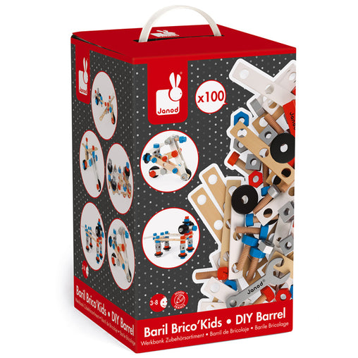 Brico Kids Wooden DIY Construction Set 100 Pieces Packaging