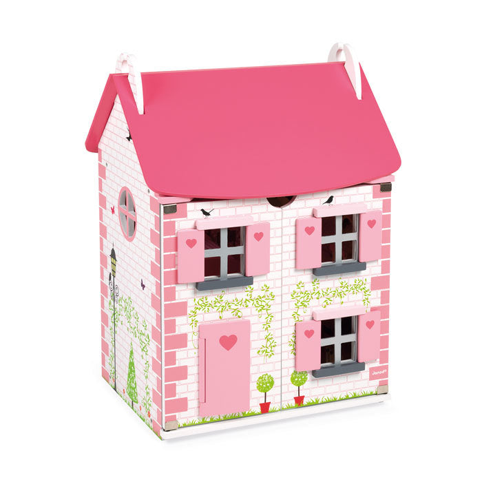 Janod Furnished Madamoiselle Doll House Pink