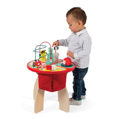 Janod Wooden Forest Activity Table Boy Standing