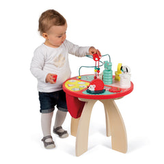 Janod Wooden Forest Activity Table Baby Standing