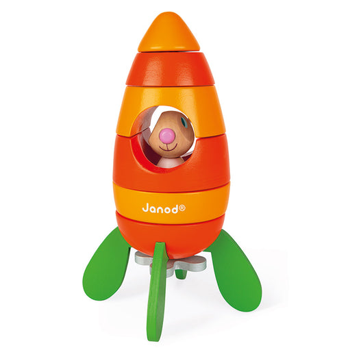 Janor Wooden Magnetic Carrot Rocket