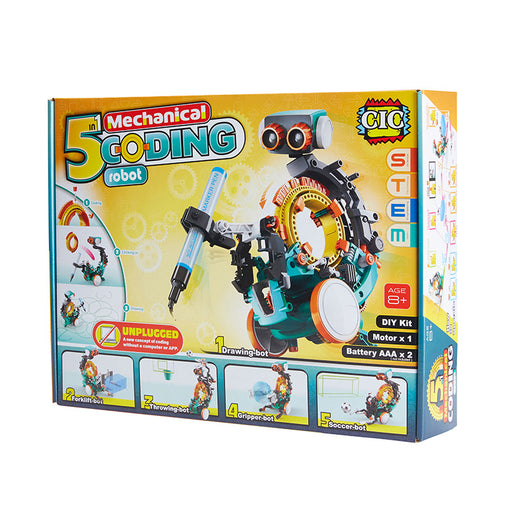 Johnco 5 in 1 Mechanical Coding Robot Box